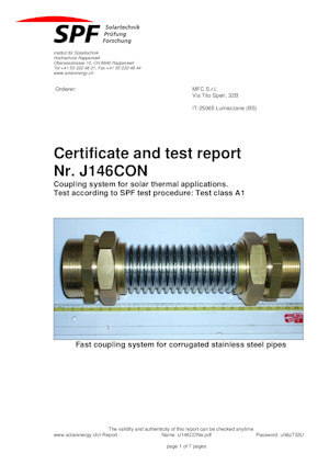 Certificazione per dimensioni DN32 - DN40
