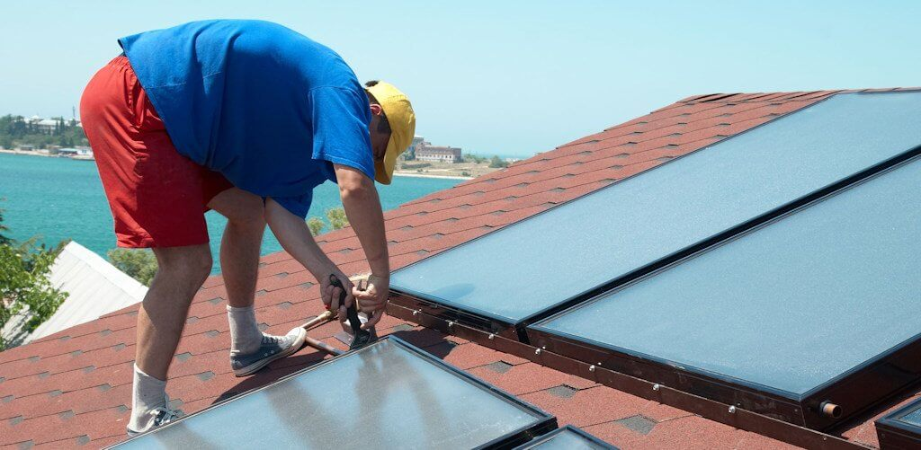 Installation der solarthermischen Anlage