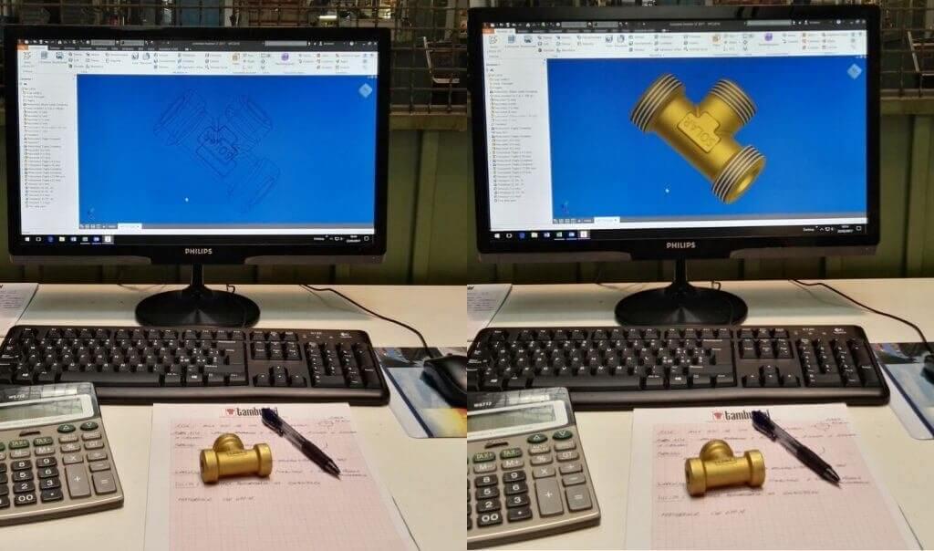 Technisches Büro. Design mit CAD-CAM